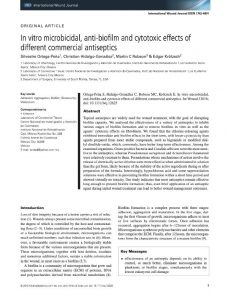 In vitro microbicidal, anti-biofilm and cytotoxic effects of different commercial antiseptics