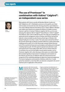 The use of Prontosan® in combination with Askina® Calgitrol®: an independent case series