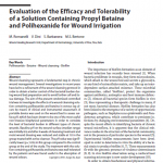 Evaluation of the Efficacy and Tolerability of a Solution Containing Propyl Betaine and Polihexanide for Wound Irrigation